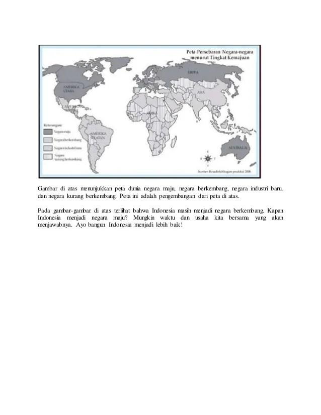 Peta Negara Maju : negara, Dunia, Negara, Berkembang