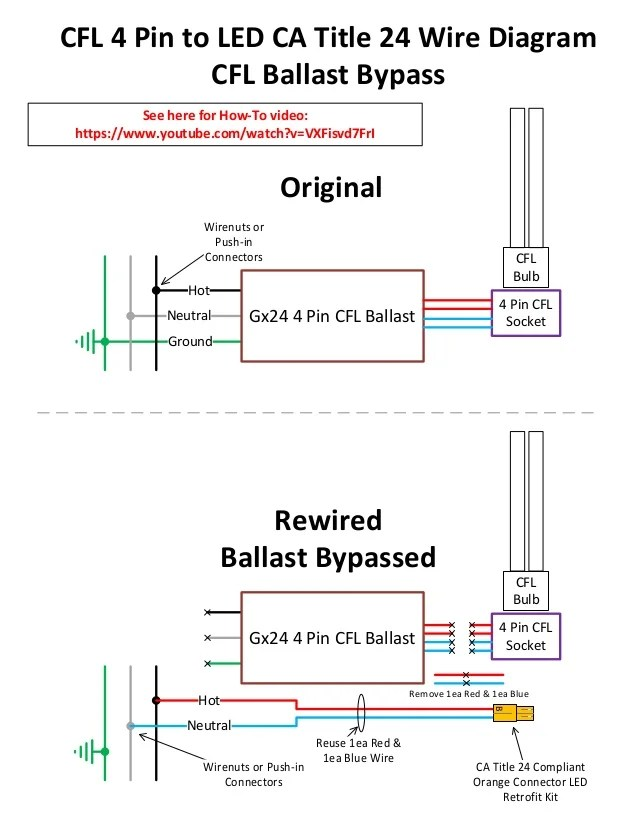 advance t8 ballast wiring diagram 2002 chevy impala 4 pin / g24 socket cfl to led conversion for canned lights