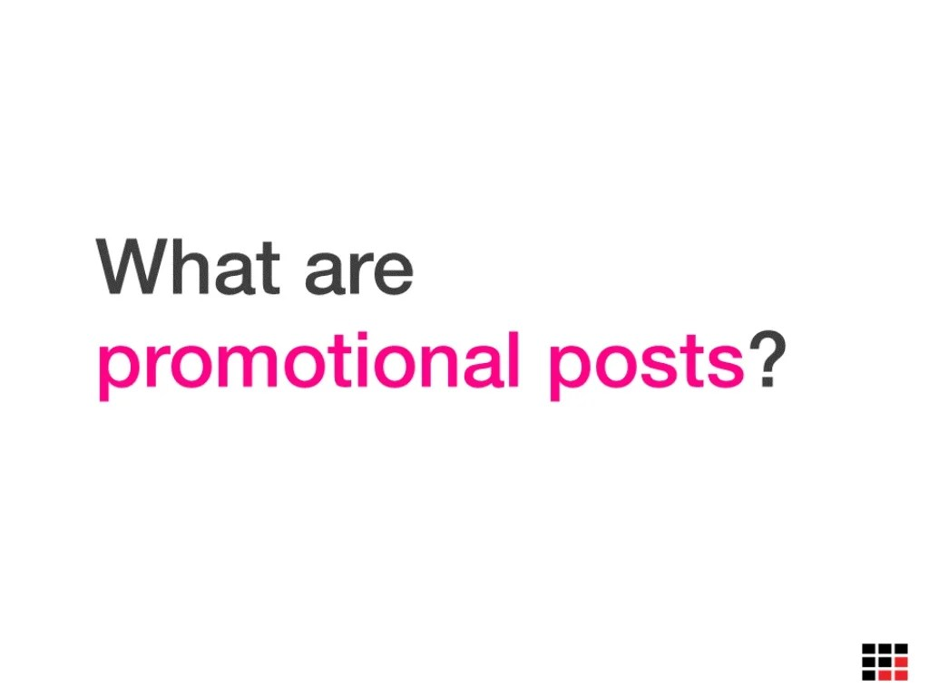 According To Facebook, Promotional Posts