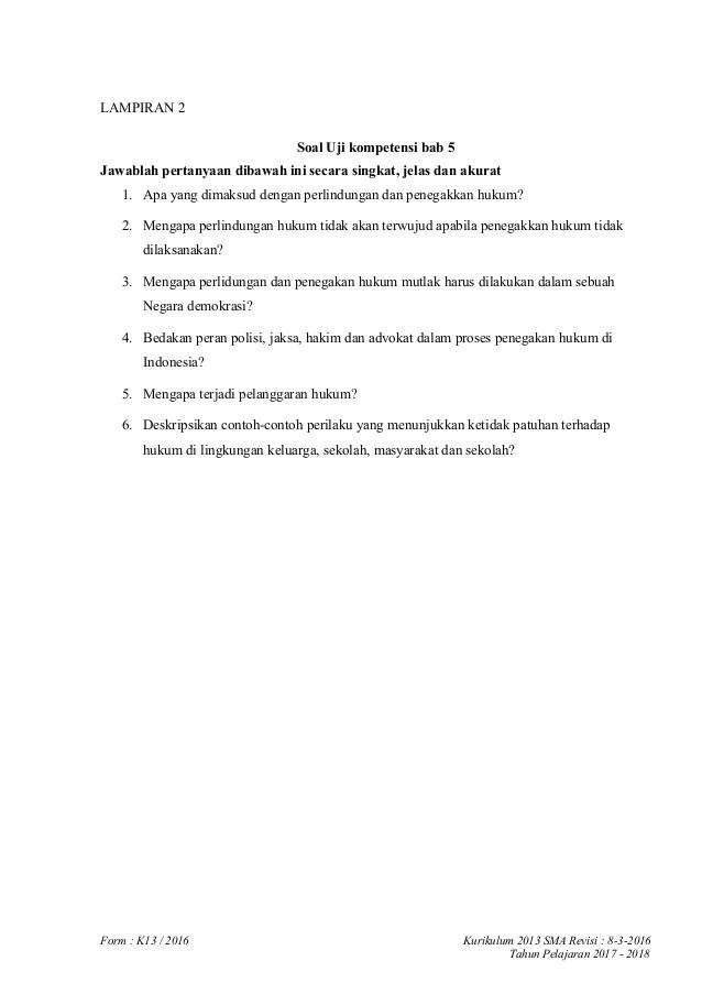 Soal Pilihan Ganda Tentang Perlindungan Dan Penegakan Hukum Kelas 12 : pilihan, ganda, tentang, perlindungan, penegakan, hukum, kelas, Contoh, Tentang, Perlindungan, Penegakan, Hukum, Indonesia, Terbaru