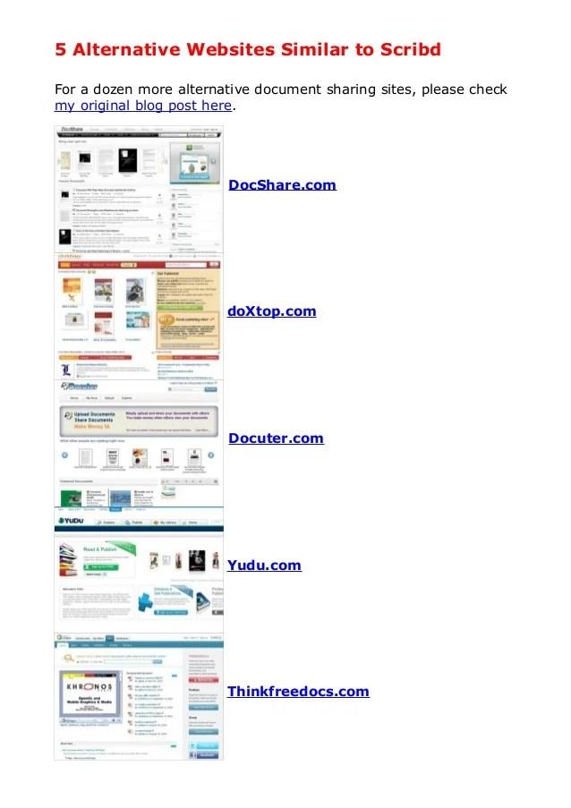 5 Alternativewebsitessimilartoscribd