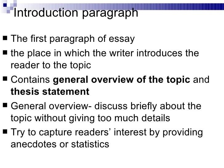 5 para essay structure