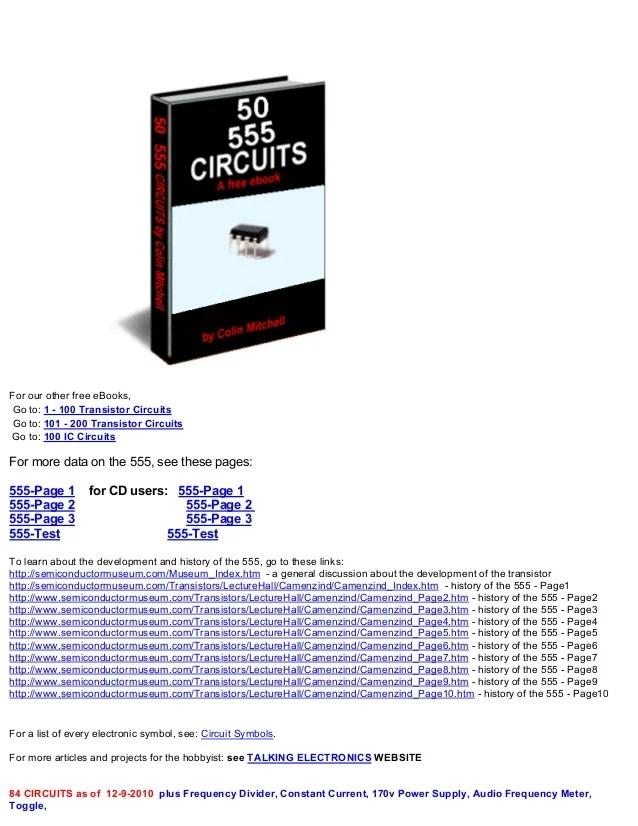 50 555 Timer Circuits Electronics Lab