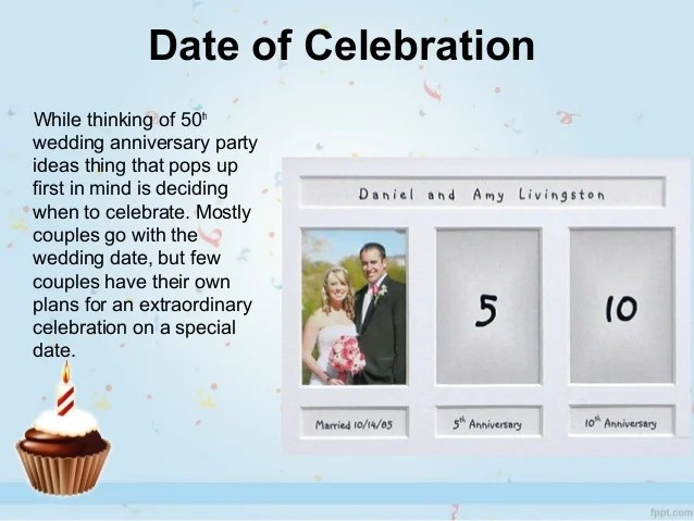 Smart Ideas For Celebrating 50th Wedding Anniversary