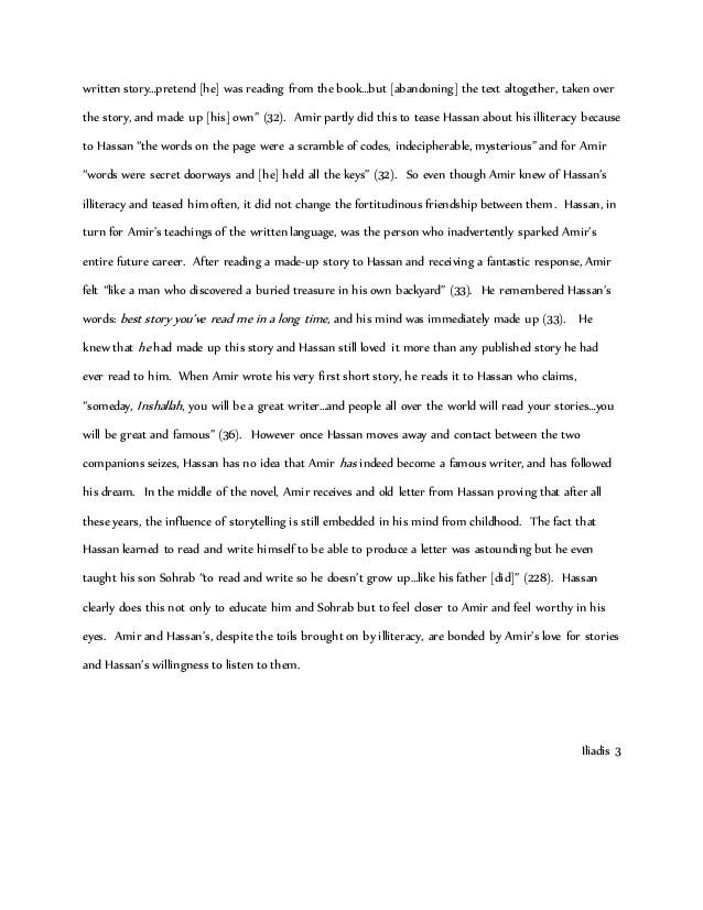 Kite Runner Essay Ideas