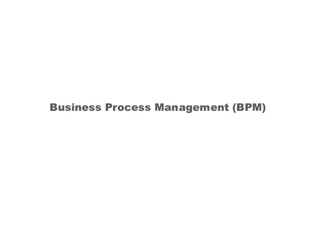 Business Process Management 101 Training