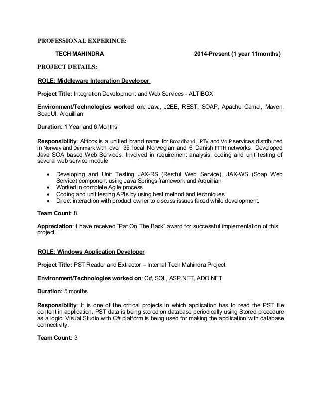 json testing resume