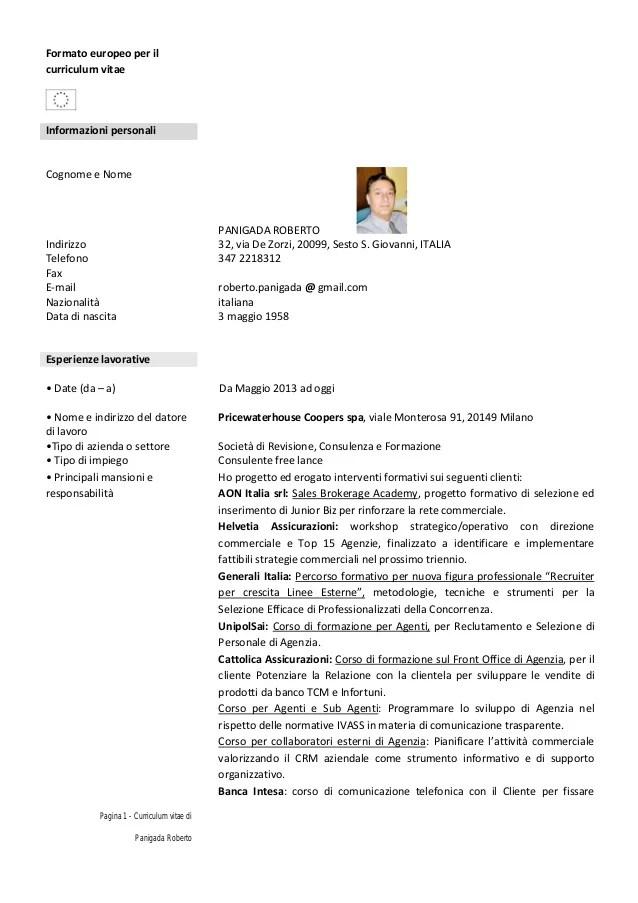 curriculum vitae formato europeo per infermieri neolaureati