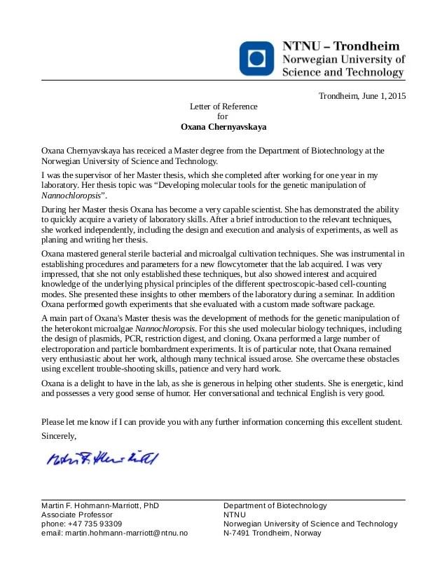 Reference letter  Associate professor