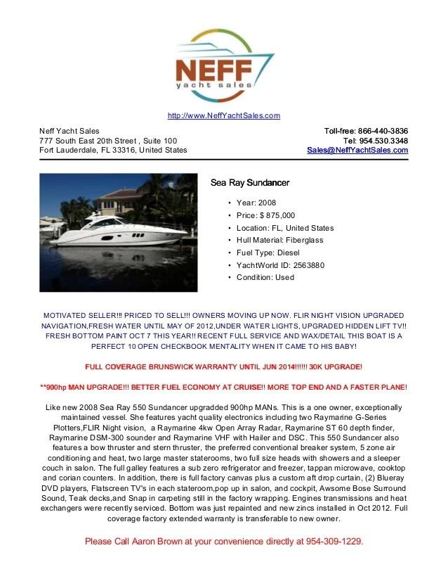 sea ray warranty tableau venn diagram 58 2008 580 sundancer yacht for sale neff sales