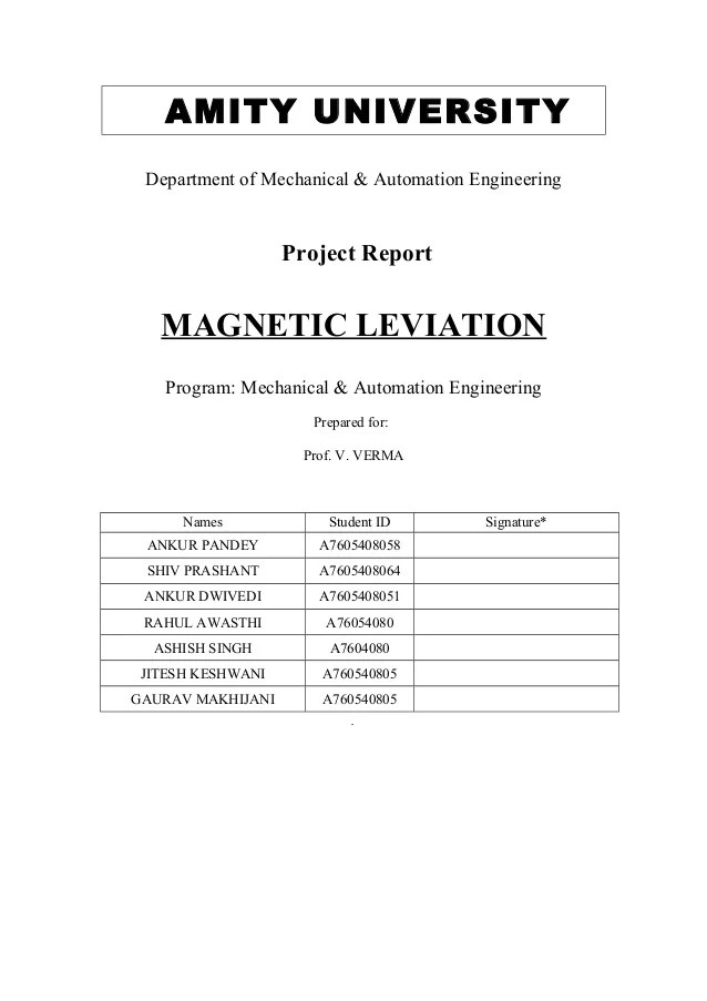 Mech And Ind Project Report Cover