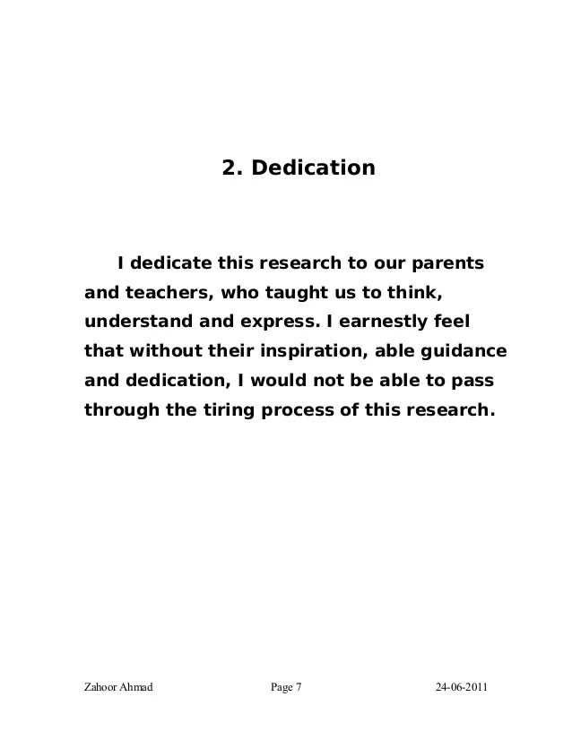 Dedication Of Thesis To Allah Term Paper Help