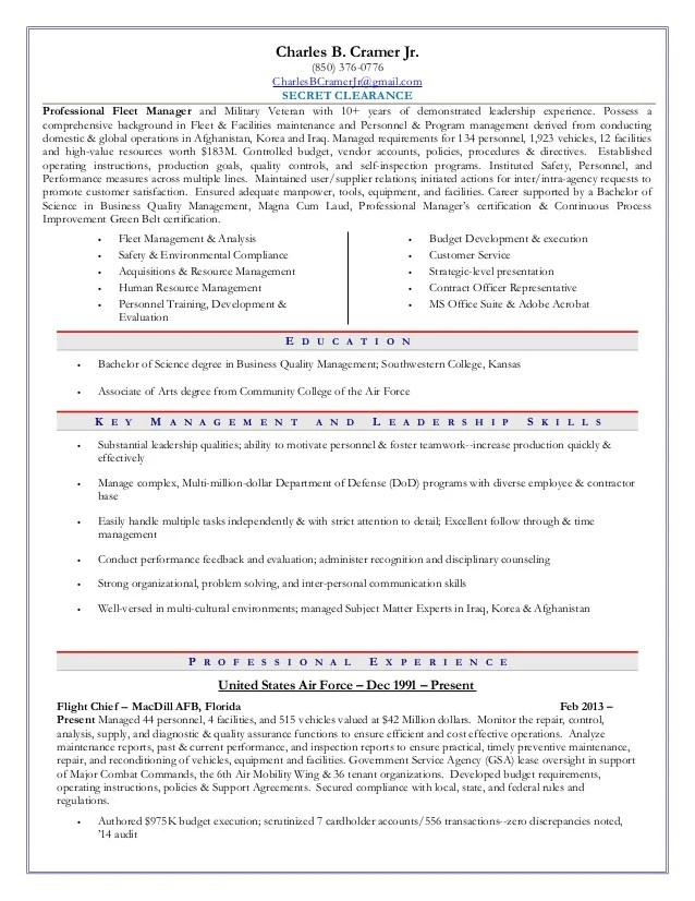 Fleet Manager Resume  Resume Ideas