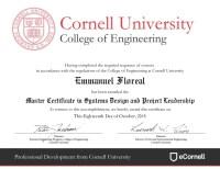 Master Certificate Cornell EF