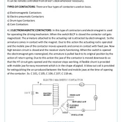 Wiring Diagram Of Magnetic Contactor Rf Tx And Rx Circuit Electric Loco Shed Tughlakabad New Delhi Answer Ydp 2 20