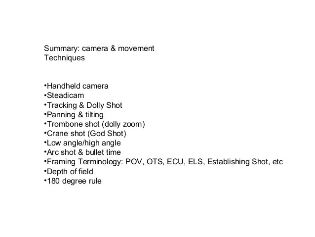 Camera Framing Terminology | Siteframes.co