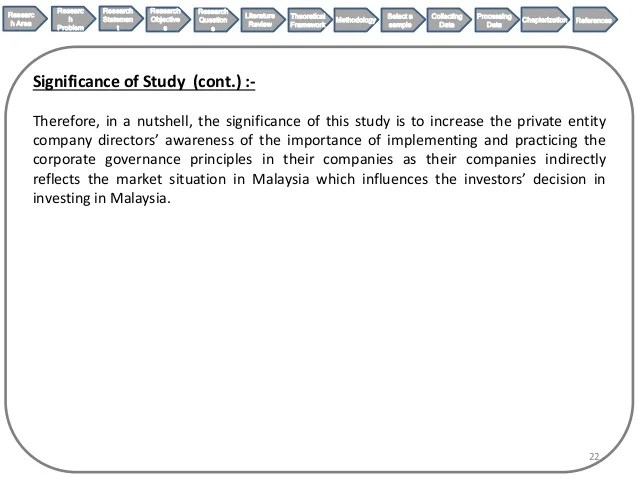 Legal Research Proposal On Corporate Governance On Directors' Trainin