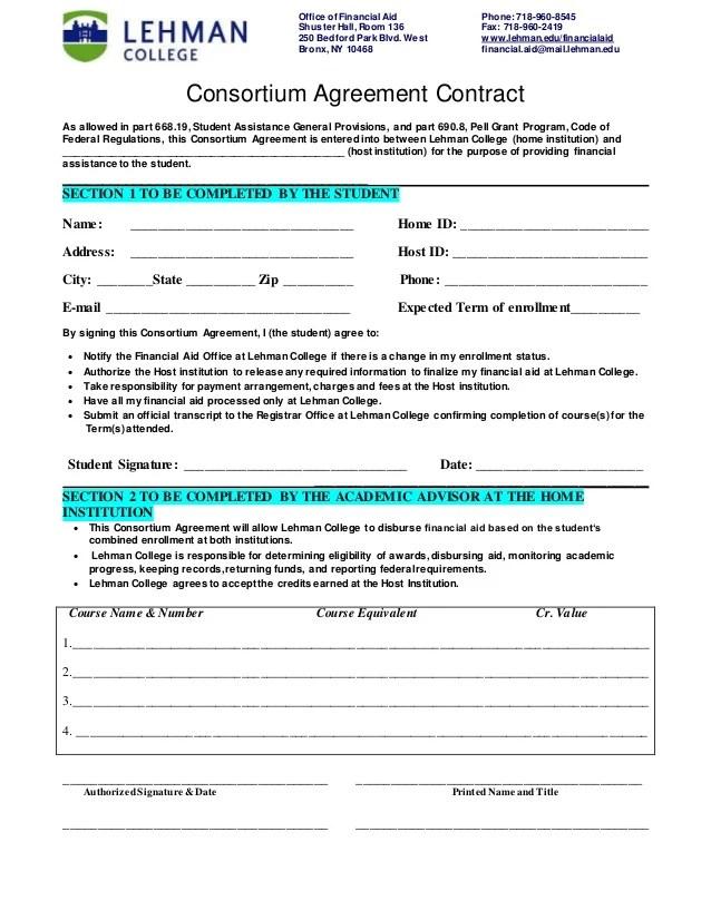 Consortium Agreement 2014