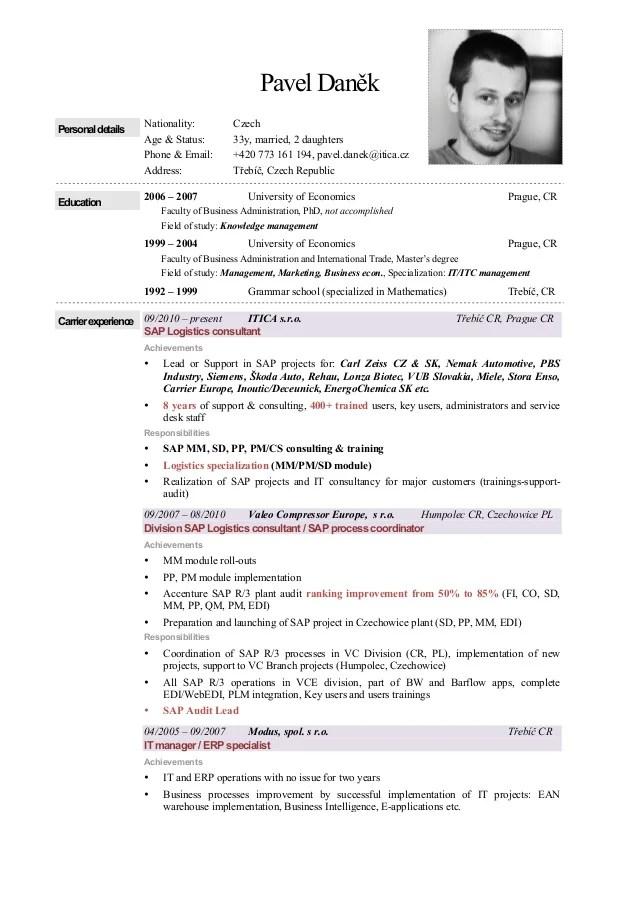 CV Pavel Danek Eng 2015 Logistics