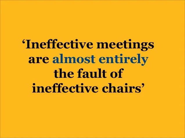 The 5 Essentials of Chairing Meetings