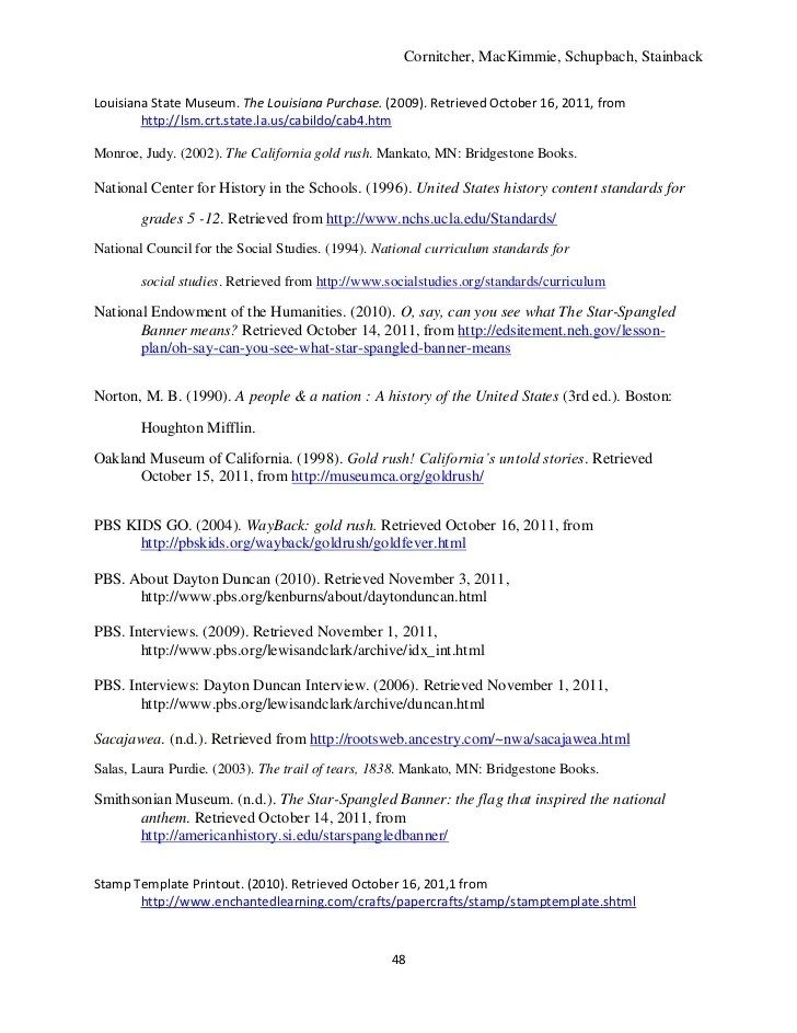 5th Grade Resource Unit US History 1801 1860