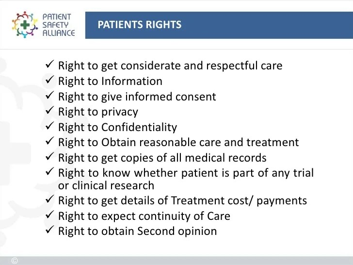 Patient Bill Rights Poster