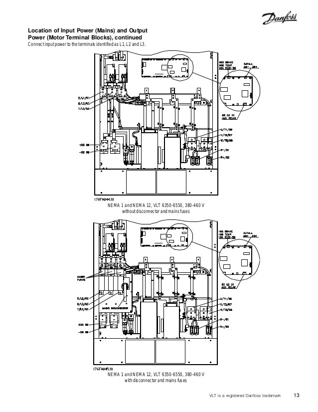 danfoss vlt 6000 wiring diagram garage thong số series 13