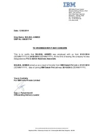 086301 -Experience Letter IBM