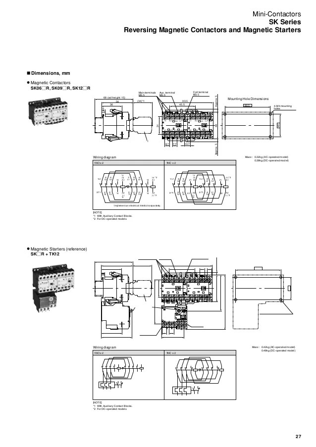 contactor and thermal overload relay wiring diagram sony model cdx gt210 mini contactors relays sk series 28
