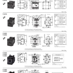 Contactor Wiring Diagrams Lighting Structure Of Long Bone Diagram Contactors And Thermal Overload Relays - Fj Series Fuji Electric