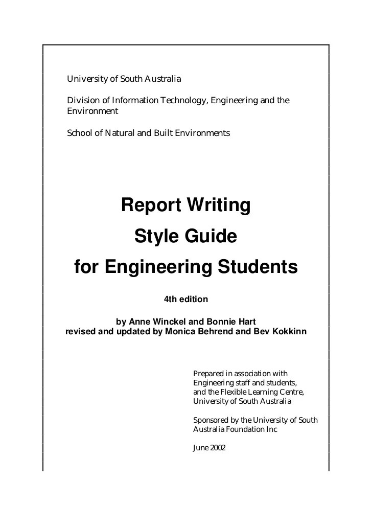 6436362 Engineering Report Writing Engineering