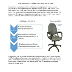 Posture Monitoring Chair Office Set Care Report