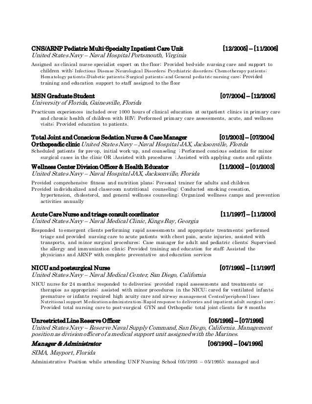 Clinical nurse specialist resume  pollutionvideohivewebfc2com