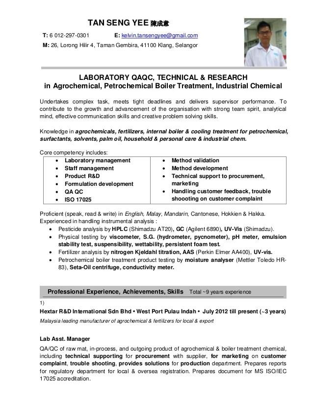 Jobstreet Resume Tan SY 130315
