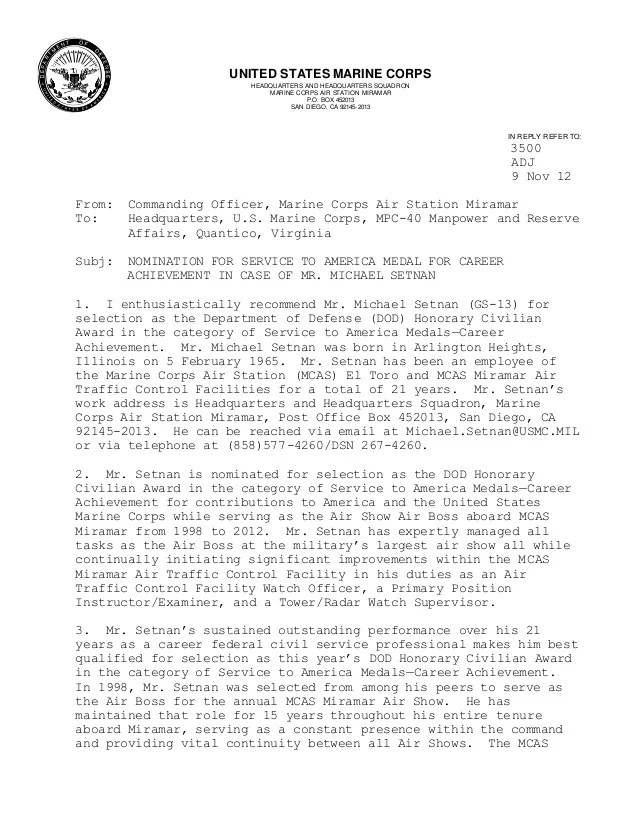 Usmc letter of continuity example spiritdancerdesigns Images
