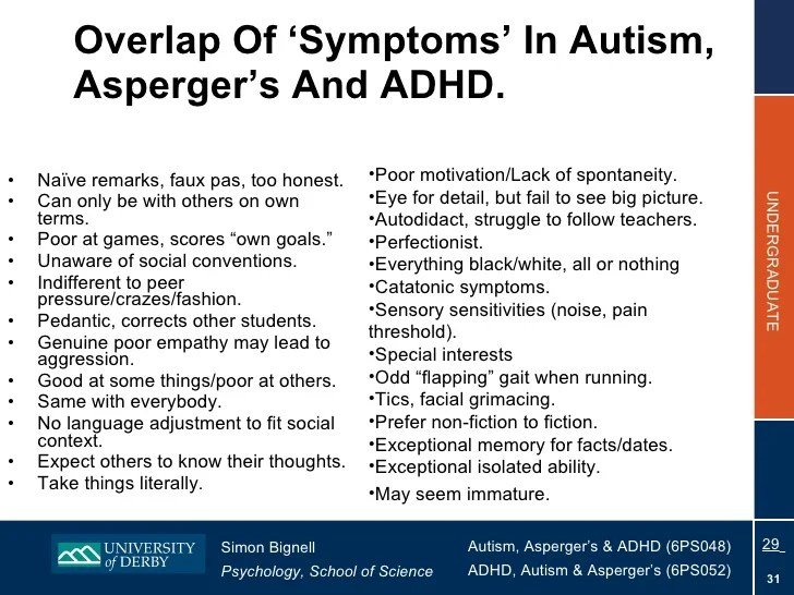 Topic 7 Comorbidity In ADHD And Autism 2010