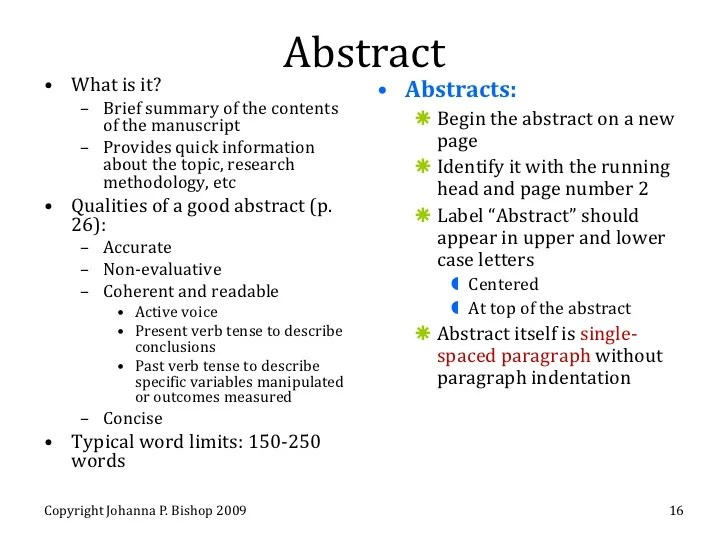 How To Type An Abstract For A Research Paper Research Paper Academic