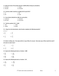 6th grade math review worksheet(1)