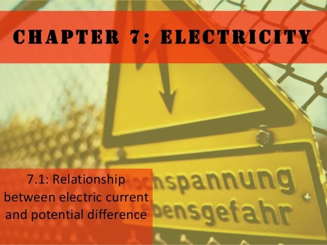 Shows The Important Relationship Between Power Current And Voltage