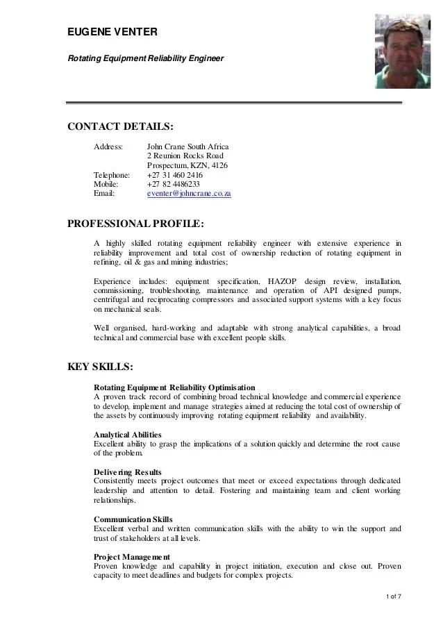 20150518Eugene Venter CV  JCA Format