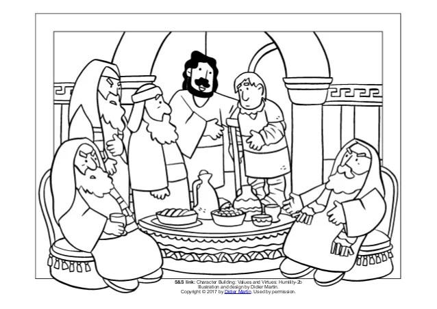 Coloring Page Meals With Jesus A Meal With Pharisees