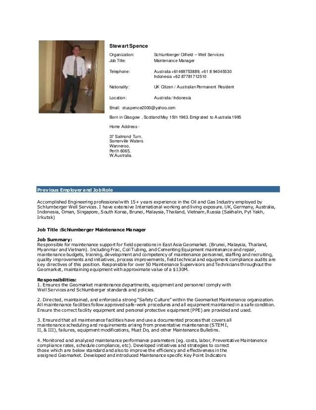 Cover Letter For Resume Maintenance Manager | Resume Pdf ...