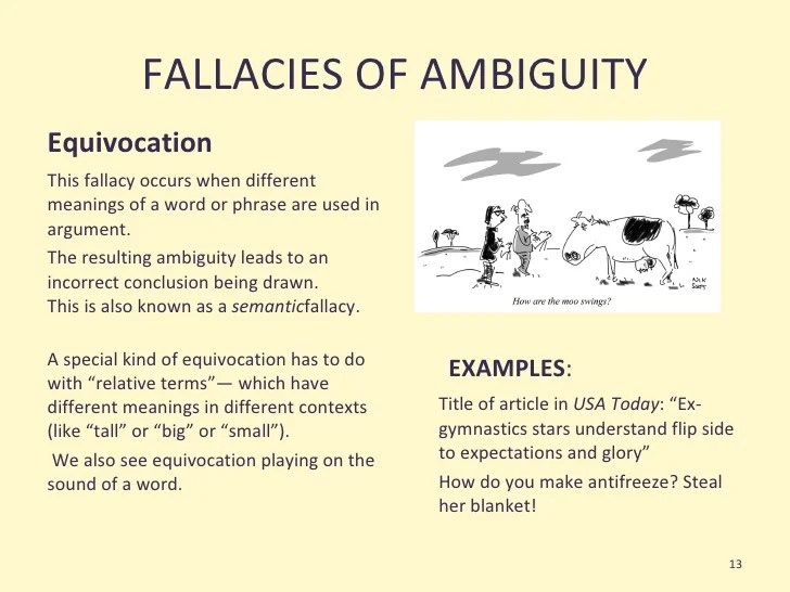 False Analogy Fallacy Examples