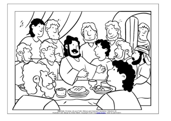 the last supper coloring page # 5