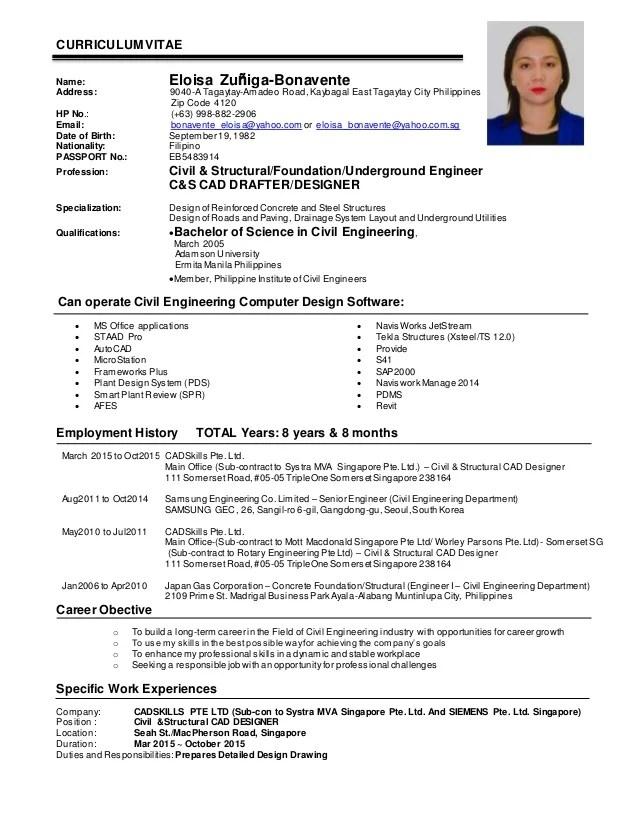 EZBonavente CV_ Civil  Structural Engineer