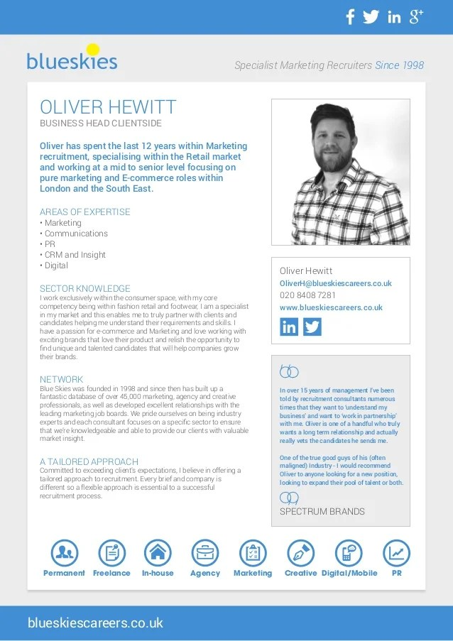 Blue Skies Consultant Profiles Oliver Hewitt