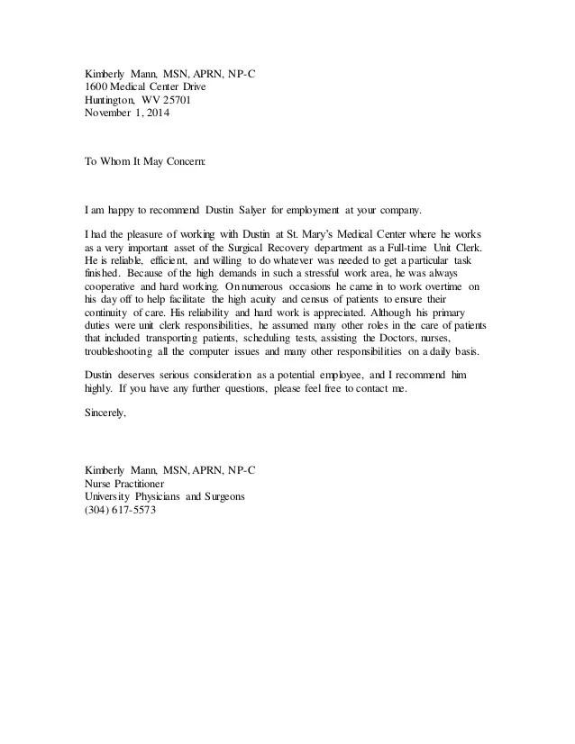 recommendation letter for nurse practitioner school hola klonec co