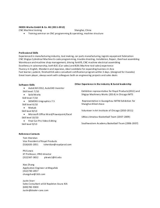 Cnc applications engineer resume  euthanasiaessaysweb