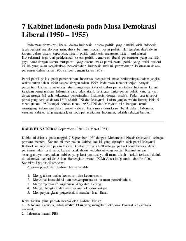 Pada Masa Demokrasi Liberal Bangsa Indonesia Menganut Sistem Pemerintahan : demokrasi, liberal, bangsa, indonesia, menganut, sistem, pemerintahan, Kabinet, Indonesia_pada_masa_demokrasi_liberal