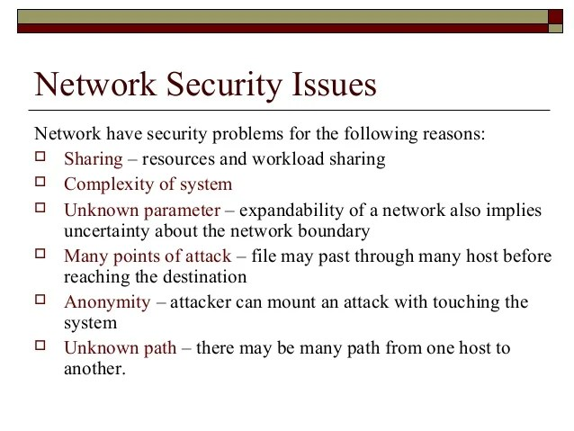 Define Security Issues